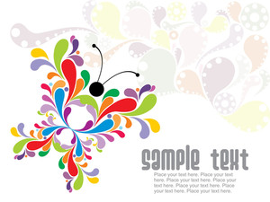 Abstract Colorful Butterfly Background