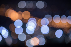 Abstract colorful city light bokeh background