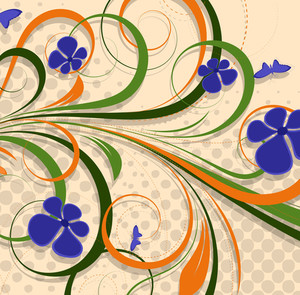 Abstract Colorful Floral Backdrop