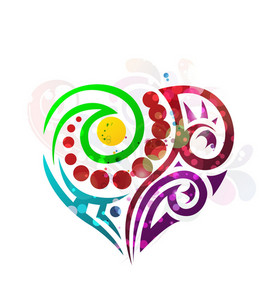 Abstract Colorful Heart Vector Illustration