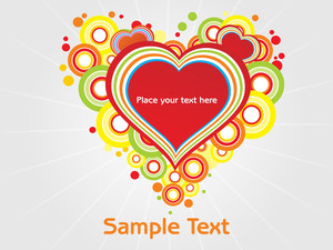 Abstract Colorful Love Text