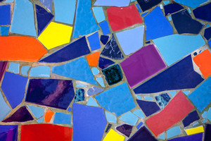 Abstract colorful mosaic grunge background