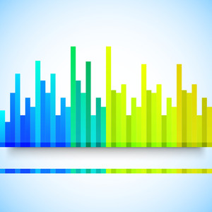 Abstract Colorful Musical Volume Background