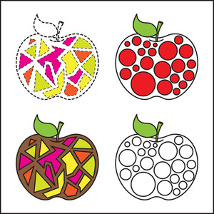 Abstract Colorful Pattern Apples