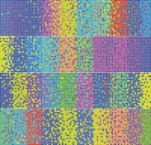 Abstract Colorful Pixel Mosaic. Vector Illustration