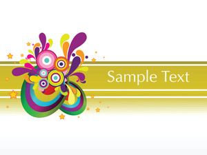 Abstract Colorful Sample Text Background