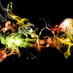 Abstract Colorful Smoke