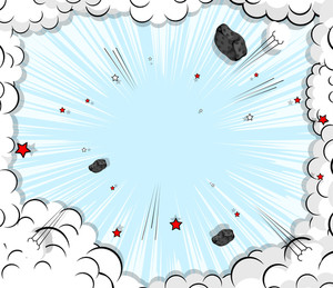 Abstract Comic Clouds Background