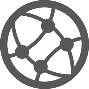 Abstract Connectivity Stroke Icon