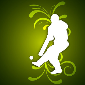 Abstract Cricket Background