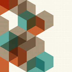 Abstract Cubes Background For Design