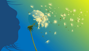 Abstract Dandelion Vector Illustration