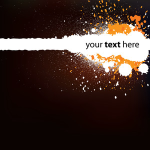 Abstract Dark Orange Background With Splatters