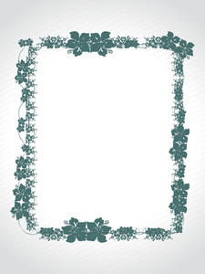 Abstract Decorative Floral Frame Design18