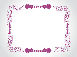 Abstract Decorative Floral Frame Design21