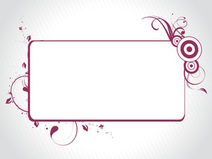 Abstract Decorative Floral Frame Design26