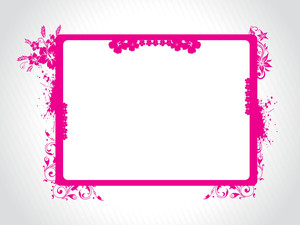 Abstract Decorative Floral Frame Design27