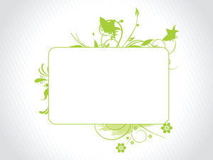 Abstract Decorative Floral Frame Design9