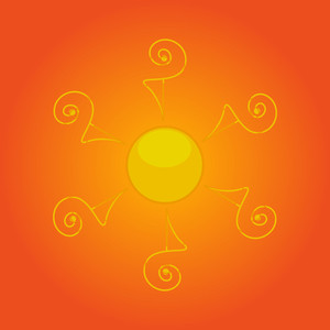 Abstract Decorative Sun Icon
