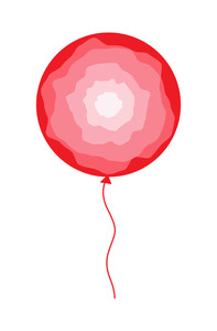 Abstract Design Balloon Vector