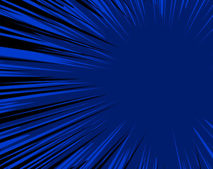 Abstract Design Blue Sunburst Background