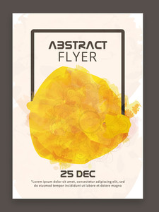 Abstract design decorated stylish flyer banner or template for your business.