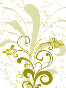 Abstract Design Floral Background