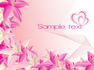 Abstract-design With Beautiful Flower