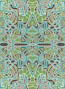 Abstract Design With Mosaic Ornament