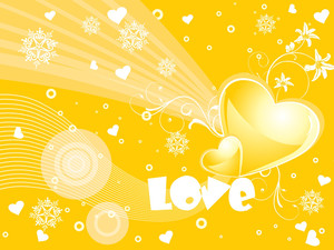 Abstract Design Yellow Background