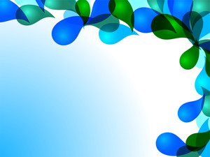 Abstract  Drops Background In Blue And Green Color And  Space For Your Text