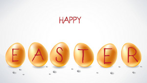 Abstract Easter Background With Eggs Vector Illustration