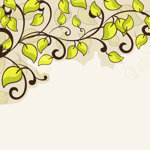 Abstract Eco Concept With Green Leaves