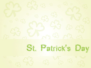 Abstract Elegance Shamrock Background