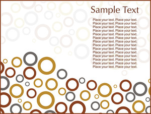 Abstract Fancy Circles Illustration Design