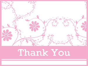 Abstract Floral Background With Gratitude
