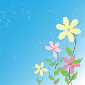 Abstract Floral Design Background