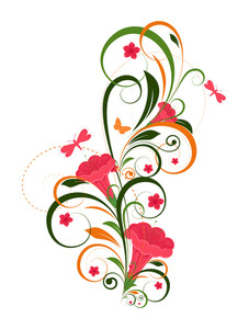 Abstract Floral Design Graphic