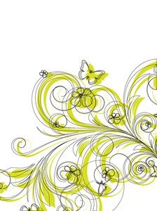 Abstract Floral Design Vector Background