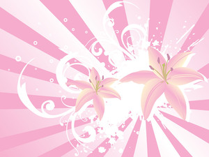 Abstract  Floral Vector Wallpaper