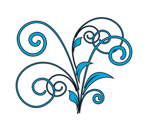 Abstract Flourish Design