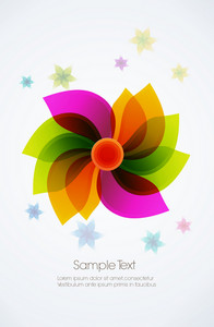 Abstract Flower Vector Illustration