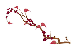 Abstract Flowers Branch