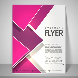 Abstract flyer design for business with address bar place holder and mailer.