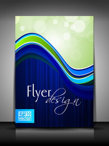 Abstract Flyer Design Illustration In Eps 10 Format.