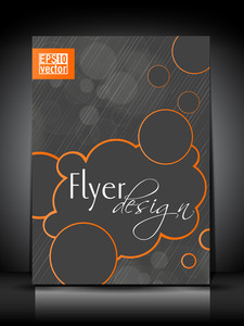 Abstract Flyer Template Or Poster Design.