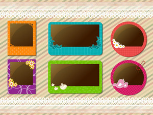 Abstract Frames Set Vector Illustration