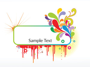 Abstract Funky Vector Background For Text13