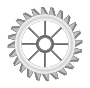 Abstract Gear Wheel Vector