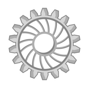 Abstract Gear Wheel